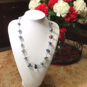 Denim Blue Necklace 🦋🦋. Great To Wear With Jeans